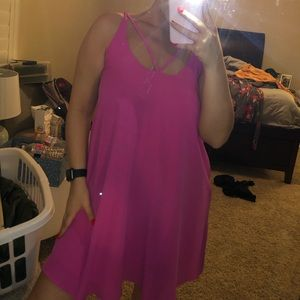 PINK STRAPPED DRESS